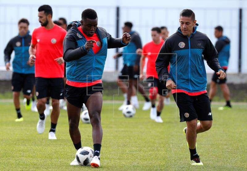 Costa Rica continuará mañana su plan de entrenamientos, y el viernes partirá a Samara donde se estrenará contra Serbia. Foto EFE
