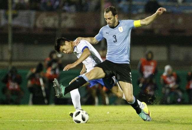El jugador de Uruguay Diego Godín. Foto: EFE