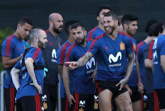 El jugador español Sergio Ramos. Foto: AP