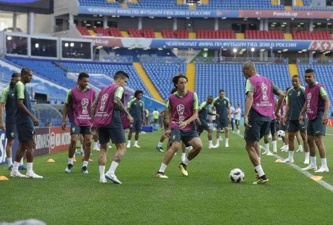 Brasil se enfrentará a Suiza mañana por el grupo E. Foto: EFE