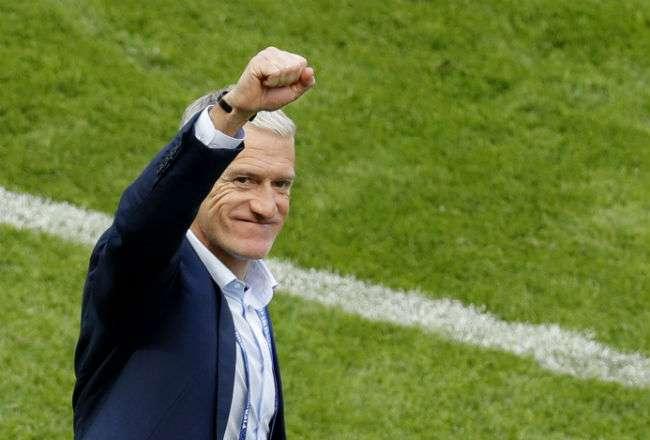 El entrenador Didier Deschamps. Foto:EFE