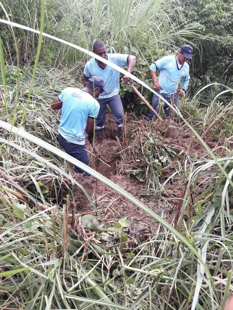 Reparación de tubería en San Miguelito. Foto/ @Treporta