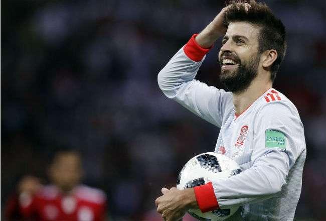 El jugador español  Gerard Pique. Foto: AP