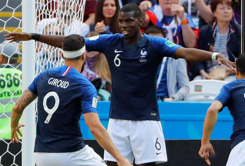 Paul Pogba suma un gol en el Mundial de Rusia 2018. Foto EFE