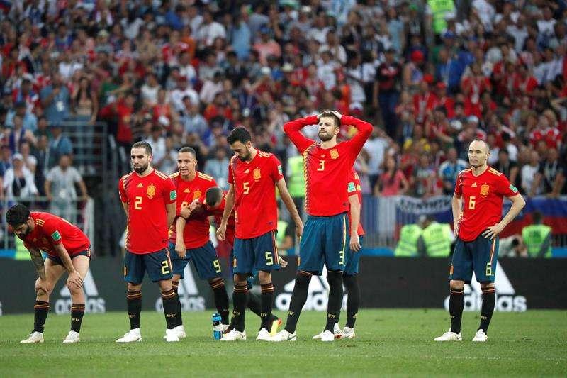 La selección de España se va del Mundial de Rusia 2018 sin pena ni gloria. Foto EFE
