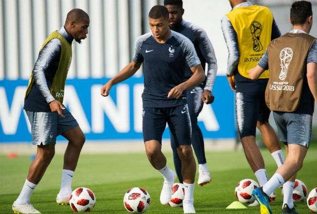 La selección de Francia está listo para la final. Foto:EFE