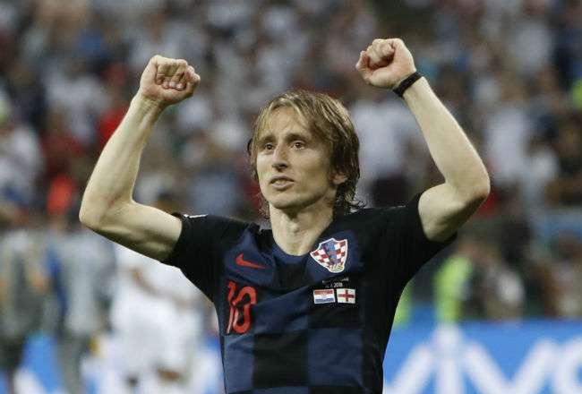 El jugador Luka Modric. Foto:EFE