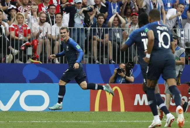 Antoine Griezmann anotó el segundo gol para Francia. Foto: AP