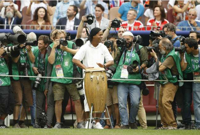 El exjugador de Brasil Ronaldinho. Foto: AP