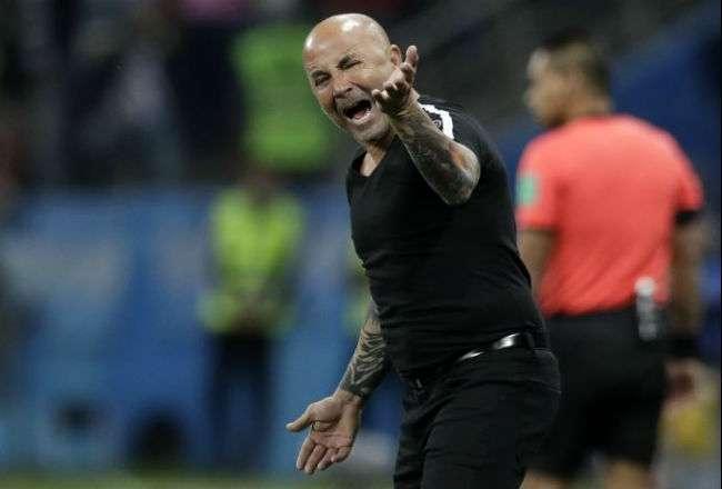 El entrenador Jorge Sampaoli. Foto: AP
