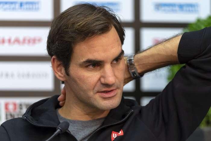 El tenista suizo Roger Federer durante una conferencia de prensa. / AP