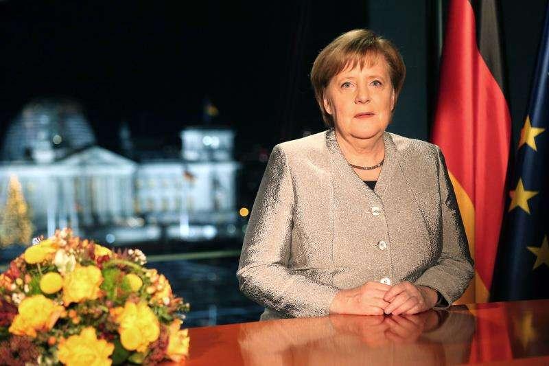 La canciller alemana, Angela Merkel , durante el discurso de Año Nuevo, difundido el pasado 30 de diciembre. EFEArchivo