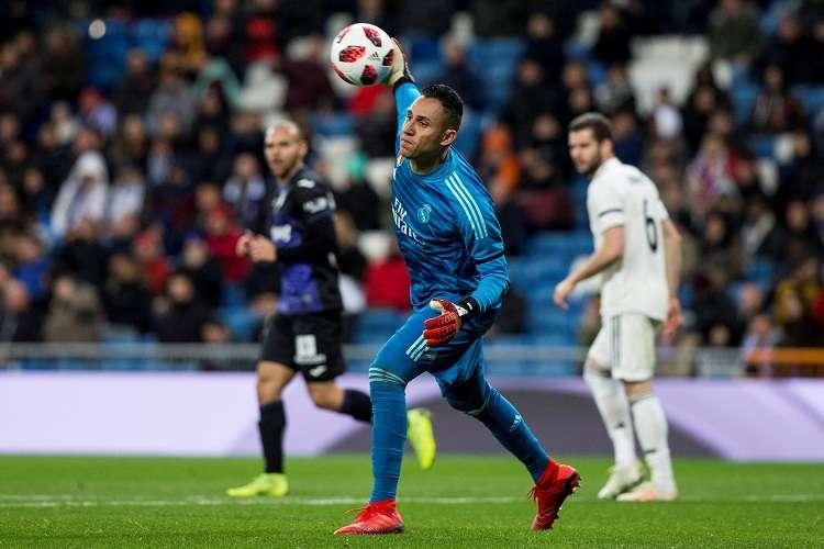 El portero del Real Madrid Keylor Navas, durante el partido de ida de los octavos de final de la Copa del Rey ante el Leganés. Foto: EFE