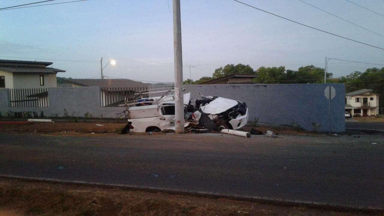 Vista general de la escena del accidente. Foto: Mayra Madrid