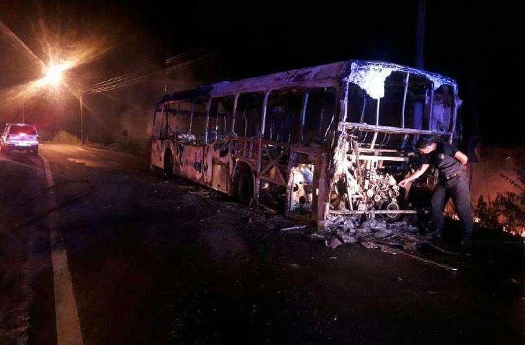 Según los informes preliminares el incendio se produjo en el área de la batería. Foto: Redes Sociales