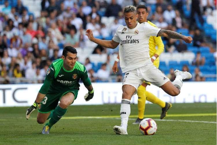 Mariano Díaz anotó dos goles en el triunfo del Real Madrid. Foto: EFE