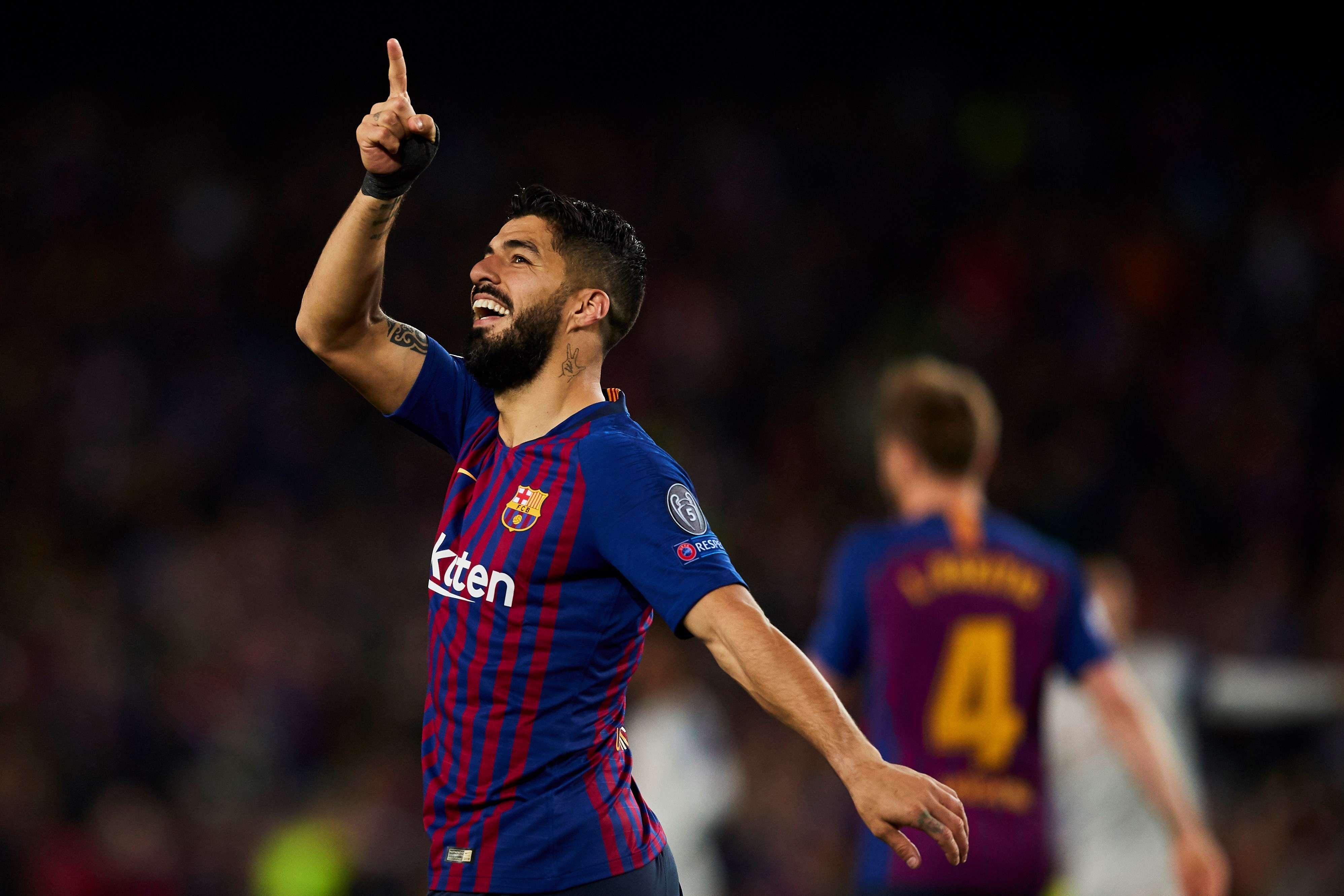 El delantero uruguayo del Barcelona Luis Suárez en el Camp Nou. EFE/Archivo