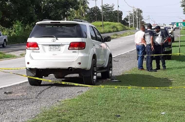 Este fue el vehículo que los asaltantes le quitaron a la víctima para escapar. Foto: Eric Montenegro