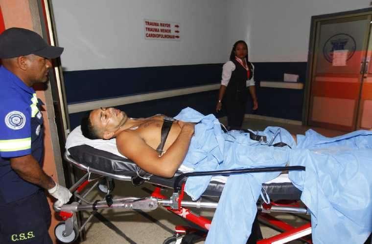 Este fue el sujeto trasladado al Hospital Santo Tomás. Foto: Alexander Santamaria