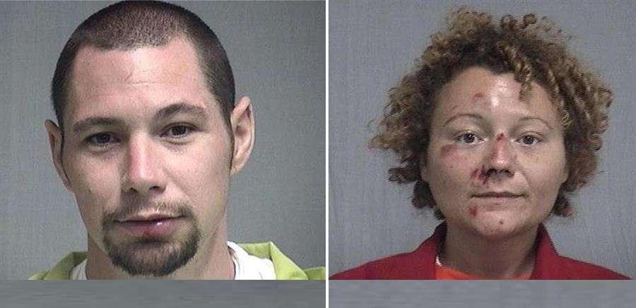 En la imagen aparecen los infractores Seth Aaron Thomas y Megan Lynn Mondanaro. Foto: EFE