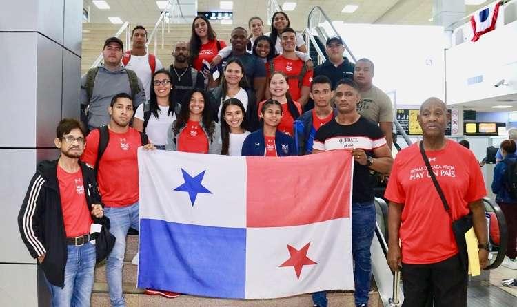 Representación de pesas de Panamá. FoTO: Pandeportes