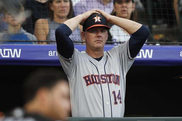 AJ Hinch, exmánager de los Astros. Foto: AP