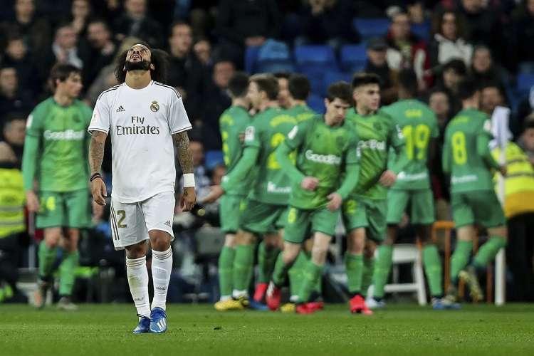 El brasileño Marcelo Vieira reacciona tras perder. Foto: AP