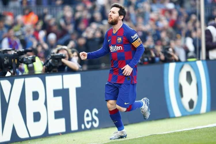 Lionel Messi celebra su anotación. Foto: AP