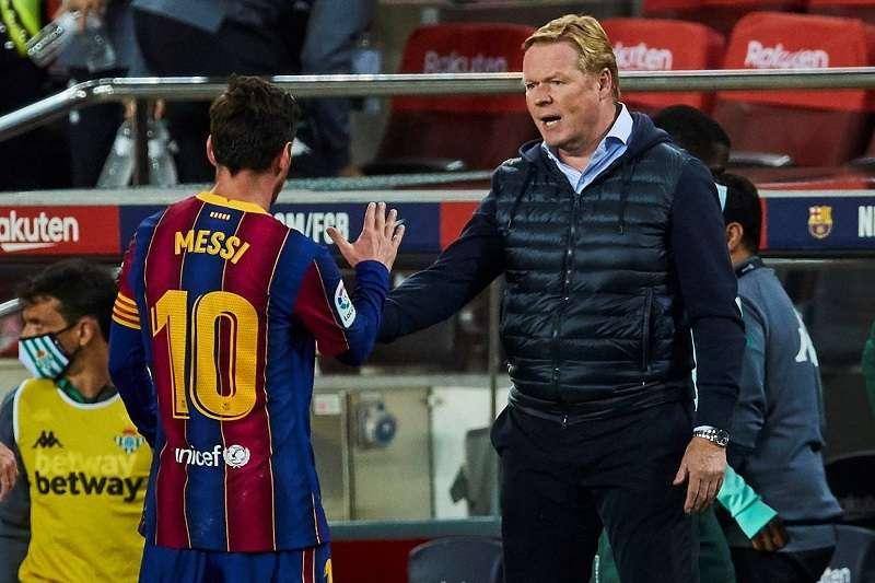 Lionel Messi y Ronald Koeman/ EFE