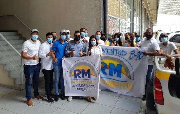 Dirigentes de Arraiján hacen un llamado a los miembros del partido RM para que asistan la marcha