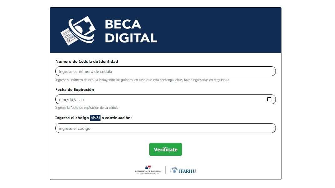 Se ha habilitado la plataforma https://beca.innovacion.gob.pa/beca_digital/.