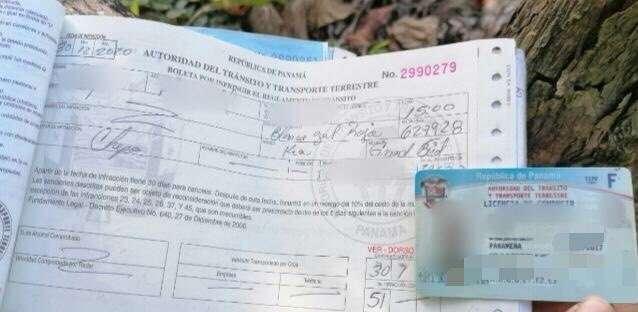 Las unidades de la DNOT le impusieron al conductor una multa de $50.00 cuando lo retuvieron a la altura de Chepo.