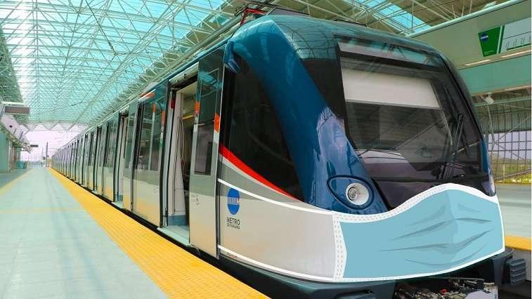 Vista general de un tren del Metro de Panamá.