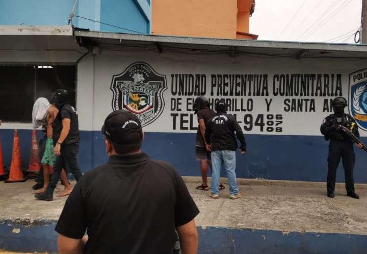 Los retenidos fueron remitidos ante las autoridades correspondientes.
