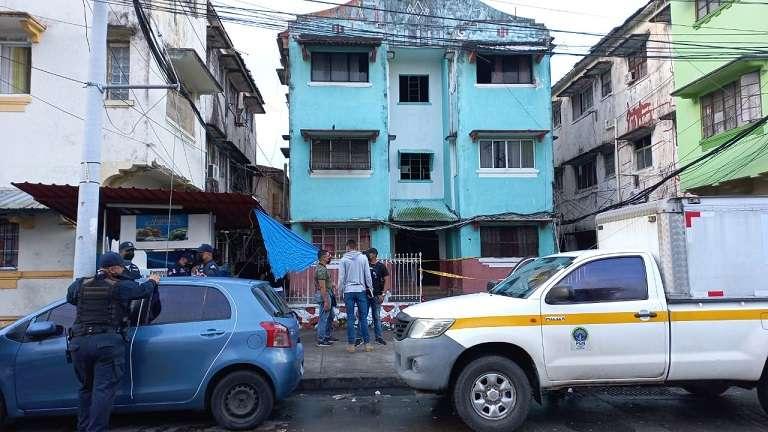 Vista general al área próxima a laescena del crimen #55 en Colón.