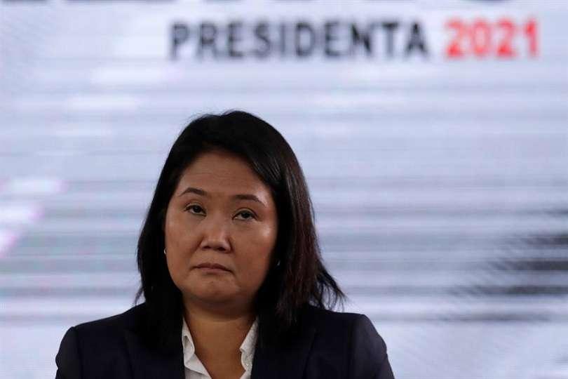 En la imagen, la candidata a la presidencia de Perú por el partido Fuerza Popular, Keiko Fujimori. EFE