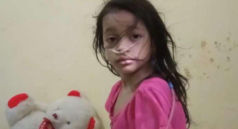 Yashaira, de tan solo 6 años, fue diagnosticada con hipertensión pulmonar y un corazón grande.
