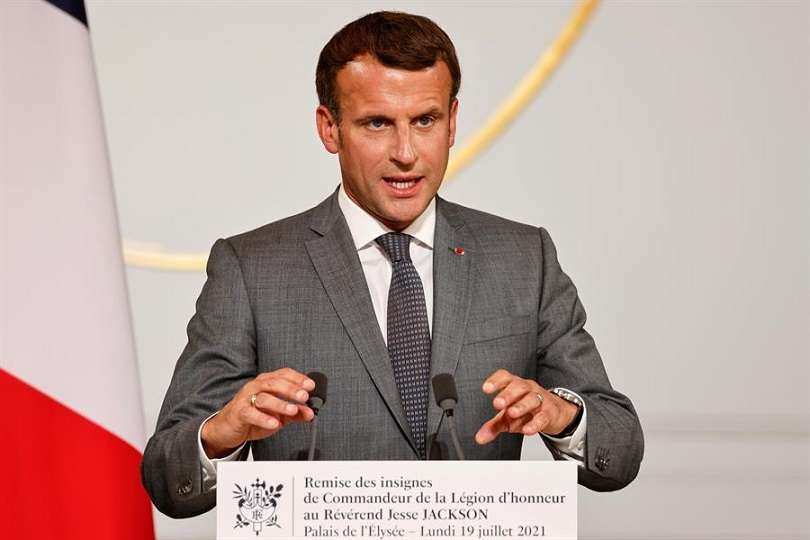 En la imagen aparece el presidente francés, Emmanuel Macron. EFE