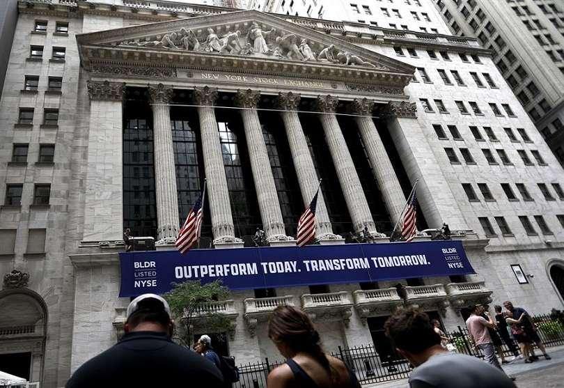 Vista externa de la Bolsa de Valores de Nueva York, Estados Unidos. EFE