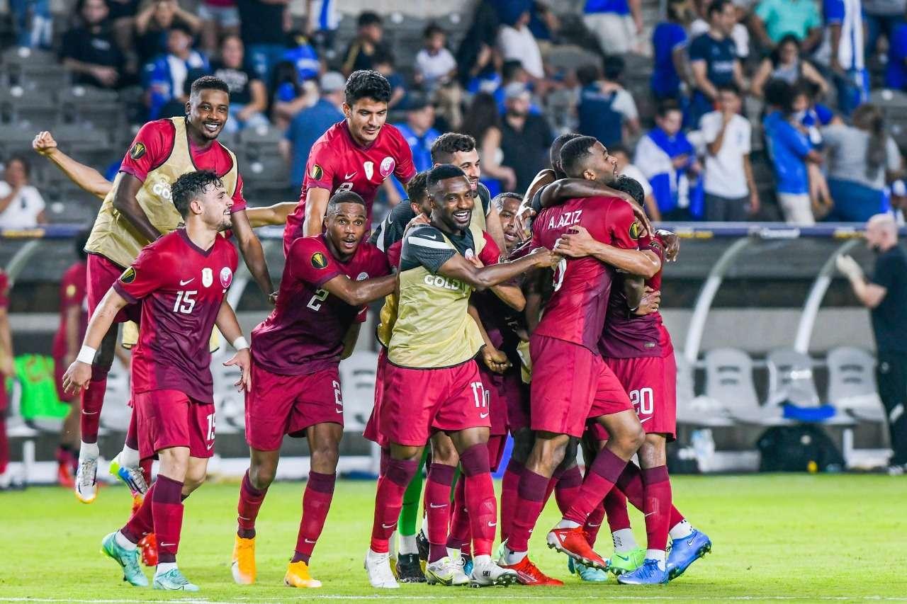 Qatar celebra su clasificación.