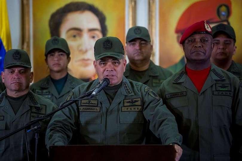 En la imagen aparece el ministro de Defensa de Venezuela, Vladimir Padrino López. EFE