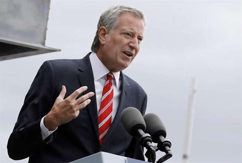 En la imagen aparece el alcalde de Nueva York, Bill De Blasio. EFE