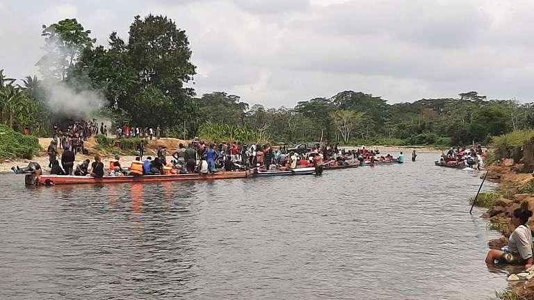 En Panamá hay poco más de 2.300 migrantes en tránsito: 1.300 en las estaciones migratorias de Darién y otros 1.072 en Gualaca, Chiriquí. Foto: Archivo