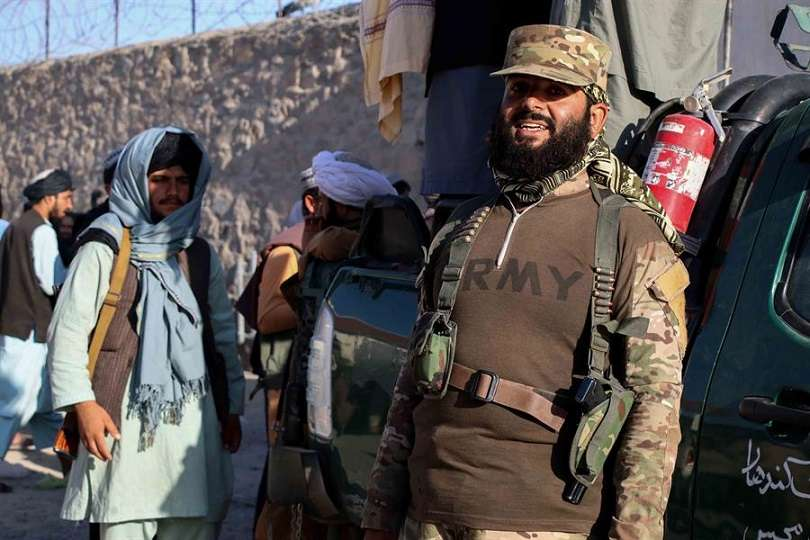 En la imagen aparece Hibatullah Akhundzada taliba, actual líder de los talibanes. EFE