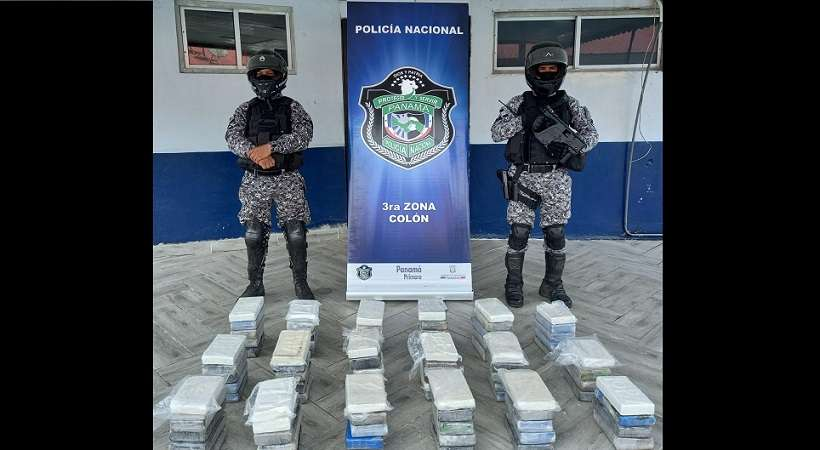 La droga iba oculta en un contenedor en un puerto del Caribe panameño