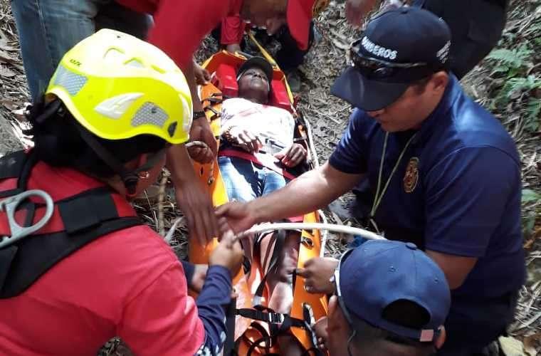 Los bomberos estaban en un simulacro de rescate. Foto: Cortesía