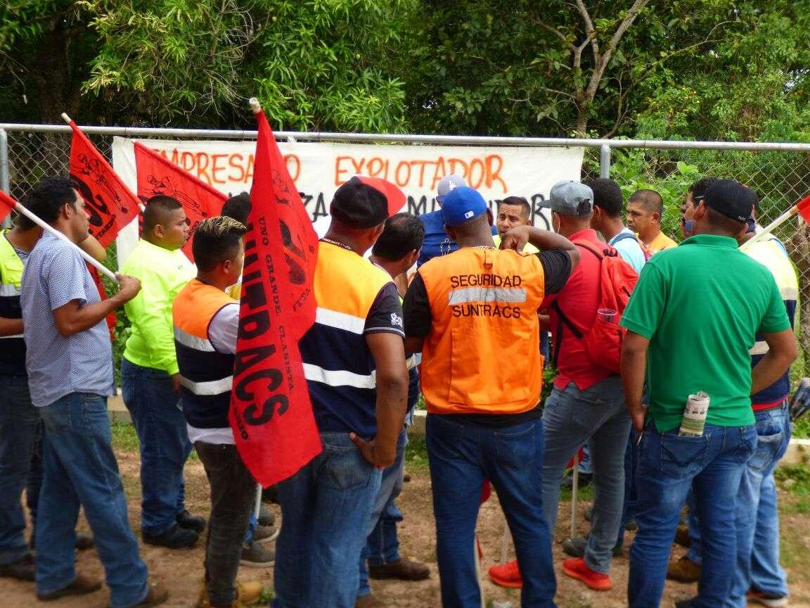 Los trabajos se mantienen detenidos ante la huelga del Suntracs