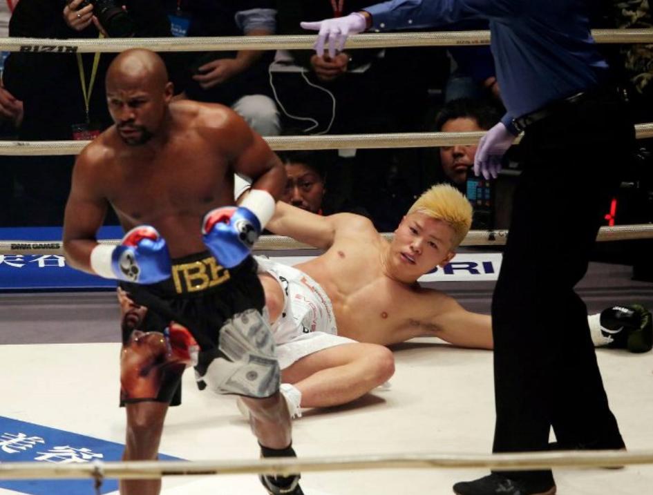 Floyd Mayweather ha descartado la posibilidad de regresar al boxeo profesional luego de obtener una victoria brutal sobre Tenshin Nasukawa./Agencias