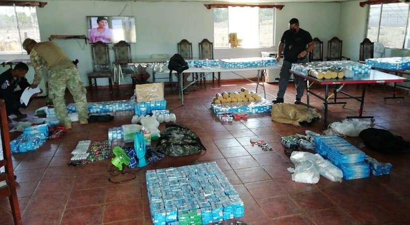 El decomiso se efectuó en distintos lugares de una quebrada próxima a La Joyita.