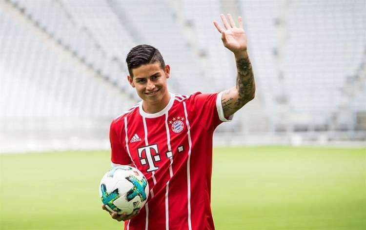 James está cedido por el Real Madrid y el Bayern que tiene una opción de compra por él que puede ejecutar hasta el 15 de junio de 2019. Foto: EFE